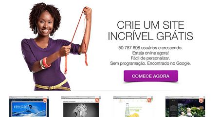 página inicial do Wix Brasil