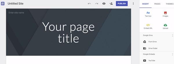 Gogle Sites Editor