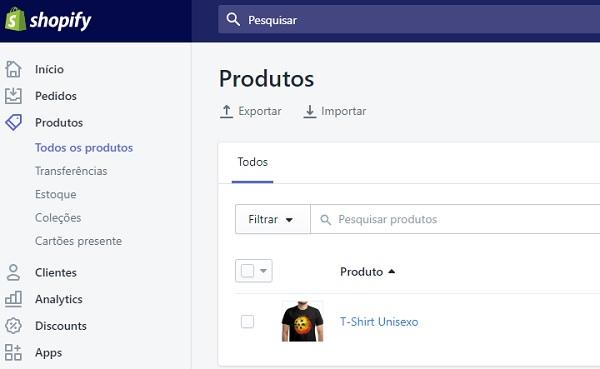 Shopify Loja Virtual
