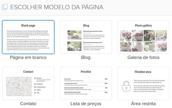 Webnode Pagina