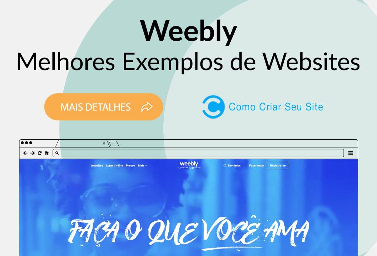 Exemplos de Sites Feitos no Weebly