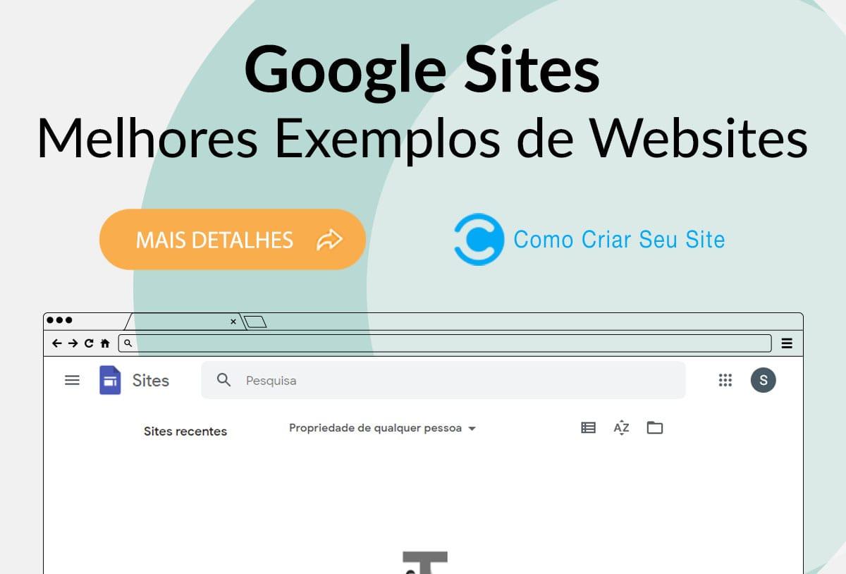 Exemplos de Sites Feitos no Google Sites