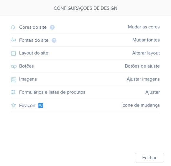 Webnode Design Settings