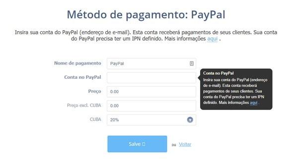 Webnode PayPal