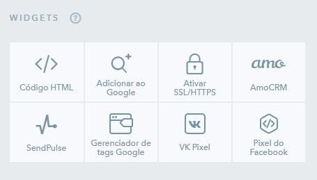 ukit site widgets