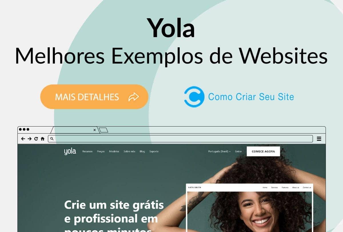 Exemplos de Sites Feitos no Yola
